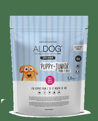 sacco 1,5kg aldog puppy fronte